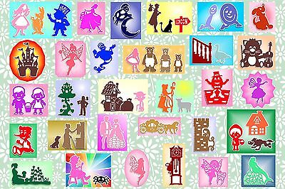 Brother ScanNCut Nursery Rhyme & Fairy Tale topper & mat templates CD1086