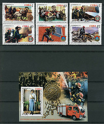 Cvba 2016 MNH Fire Service Fire Engines Trucks 6v Set + 1v Imperf S/S Stamps