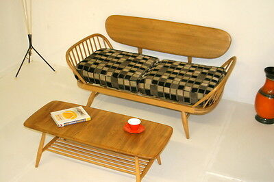 Ercol Small Daybed/ Sofa. Beech & Elm.Two Seater. Great condition.
