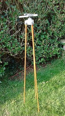surveying staff support tripod,used,necessary for one person levelling survey