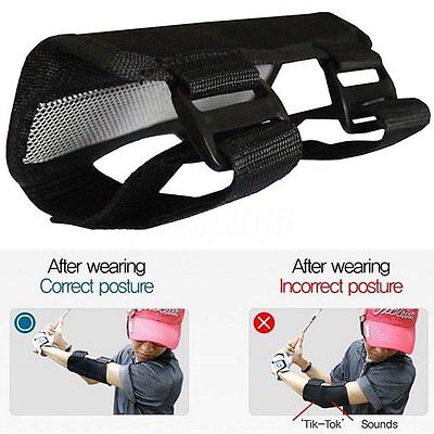 Golf Swing Posture Elbow Brace Corrector Alignment Guide Training Support SL