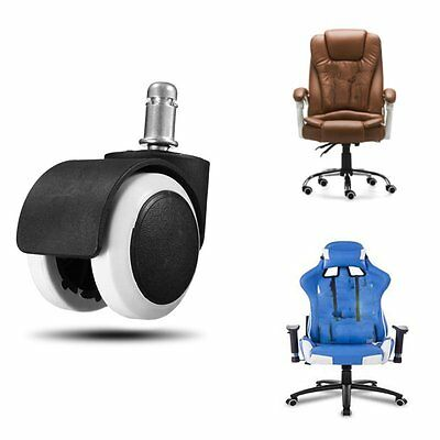 "5x Office Home Chair Caster Wheel Swivel Rubber Wooden Floor Protection 2"" SL"