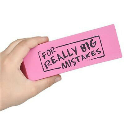 Jumbo Big Mistake Wedge Eraser Erasing Desk School Office Desktop Novelty Gift