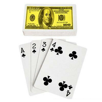 $100 Bill Playing Cards Magician Trick Magic Tricks Cards Perform Disappear