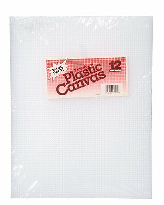 Darice 10.5 x 13.5-Inch 7 Plastic Canvas Count, Pack of 12, Clear