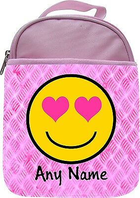 PERSONALISED CRYING WITH LAUGHTER EMOTICON SCHOOL INSULATED LUNCHBOX LUNCHBAG
