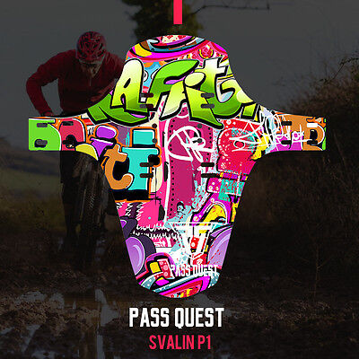 Pass Quest-EnduroGuard AM DH front or rear MTB mudguard  Mud Guard Easy Install