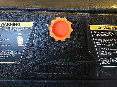 Arctic Cat Wildcat 1000 Glove box knob Fits all 2012 to 2018 basic Orange Design