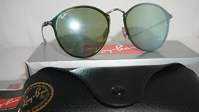 c60dfe9771 RAY BAN New BLAZE ROUND Sunglasses Silver Dark Green Silver RB3574N 003 30  59