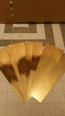 "Brass Shim Stock 0.008 Thick 6"" Width one 1 inch long piece .008 008"
