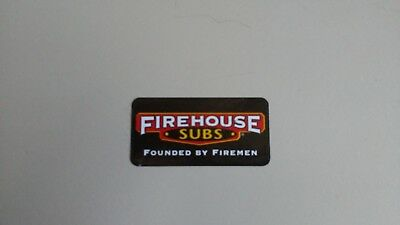 FIREHOUSE SUBS Founded By Firemen Hard Hat ~ Sticker Decal