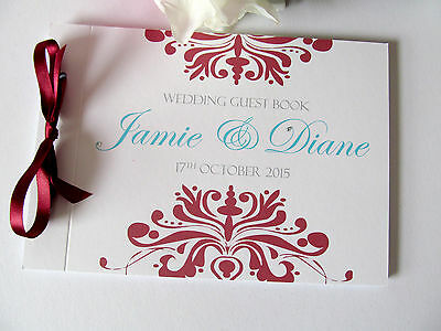 Personalised Guest Autograph Book Dalmask Wedding Engagement Party Signature
