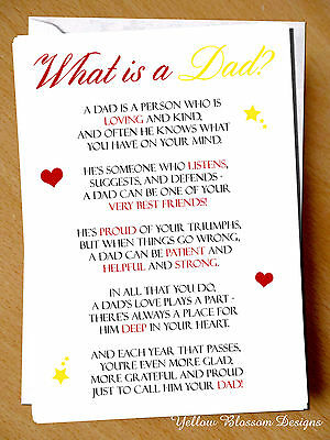 Greeting Card Dad Birthday Fathers Day Love Children Kids Printed Christmas Cute