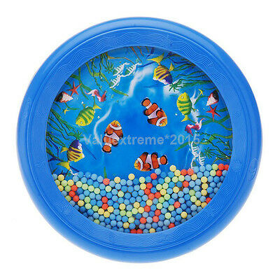Ocean Wave Bead Drum Gentle Sea Sound Musical Educational Toy Tool for Baby SP