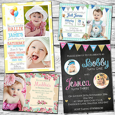 10 personalised birthday party invitations kids joint childrens