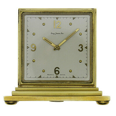Georg Jensen Famous Designer Extremely Rare Miniature Double Dial Partners Clock