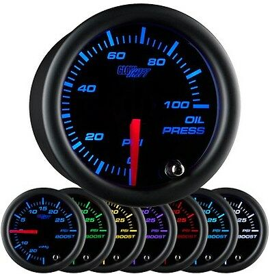 52mm GlowShift Black 7 Color Oil Pressure Gauge - GS-C704