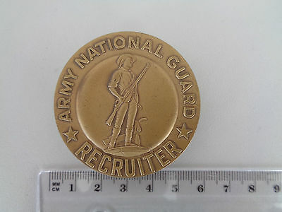 ^*(F) US Army National Guard Recruiter Badge bronze