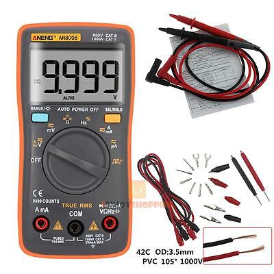 AN8008 True-RMS Digital Multimeter 9999 Counts Square Wave Voltage Ammeter meter