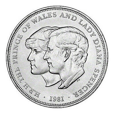 Diana & Charles 1981 Royal Wedding Commemorative Crown Coin