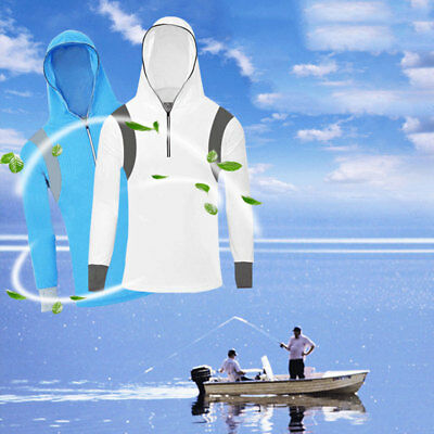 Fishing Men Long Sleeve Sun Protective Casual Lightweight Soft Outside Outdoor