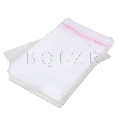 100pcs BQLZR Medium Size Self Adhesive Seal Plastic Packaging Pouches 35x24cm