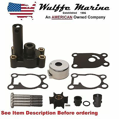 Water Pump Impeller kit & Housing for Johnson Evinrude 4 4.5 5 6 8 Hp Outboard