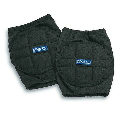 00156N Sparco Racing Protective Knee Pads Black One Size - Genuine Sparco