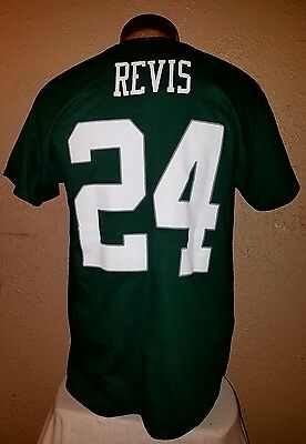 515b0e3cc NWT Majestic NFL New York Jets  24 Revis Green Jersey Style T-Shirt Mens