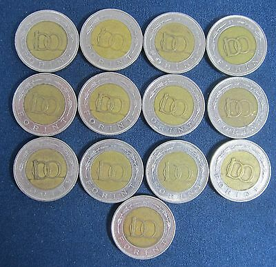 13 old Hungary coins