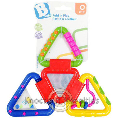 Rattle& Teether Fold ''N Play Toddler Baby Toy Chew Gums Ease Play Playing Game