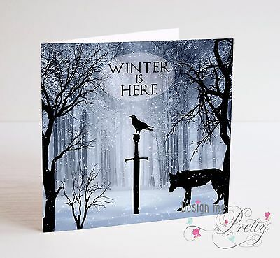 GAME OF THRONES - WINTER IS HERE Birthday Anniversary Card