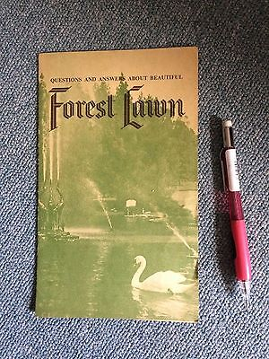 Vintage American Ephemera Forest Lawn cemetery Park California History