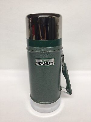 Vintage Aladdin Stanley Thermos A-1350B Wide Mouth Stainless Steel w/ Cup 24 oz