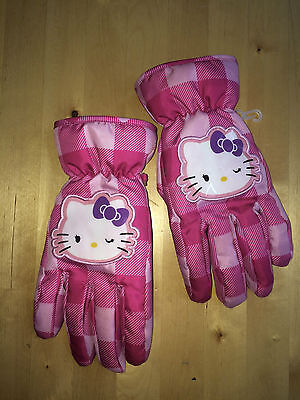 Girls HELLO KITTY Thinsulate Gloves - One Size (Fits Girls Large/Women's Small)