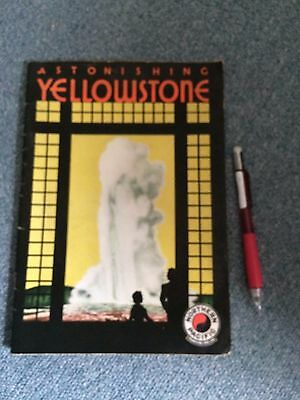 Vintage  Ephemera Astonishing Yellowstone Northern Pacific Railway 1937 History