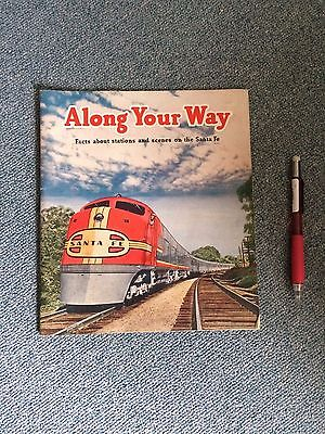 Vintage  Ephemera Along Your Way Santa Fe Railroad History Booklet 1945