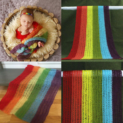 Newborn Baby Mohair Swaddle Cocoon Knit Crochet Wrap Photo Photography Prop