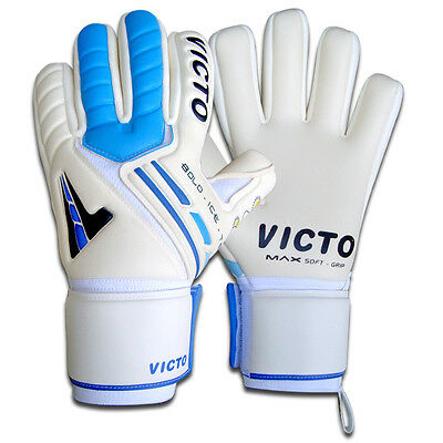 Goalkeeper Football gloves Negative with Finger saver protection size 7 8 9 10