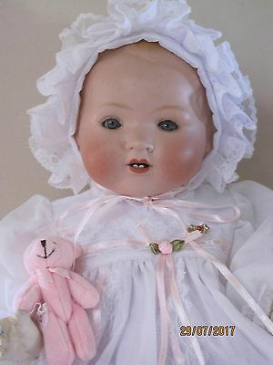 "Antique Bisque Armand Marseille German ""my Dream Baby"" 18 Inches 1920's"