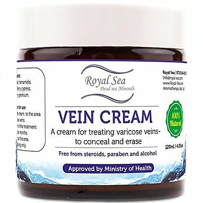 Royal Dead Sea Vein Cream to Conceal and Erase Varicose / Spider Veins