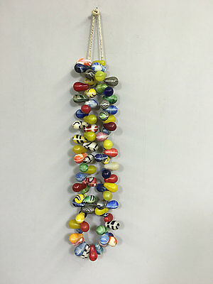Mali African Wedding Trade Bead Colored Glass Beaded Necklace