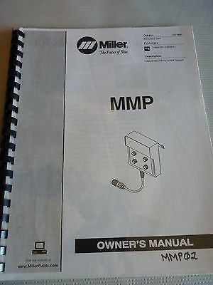 1994 Miller MMP Electric Manual MIG Pulsing Control Pendant (GMAW-P) OM-814