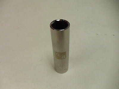 """Craftsman 1/2"""" Drive Laser Etched Deep Sockets, Metric & STD 6 Point Made in USA"""
