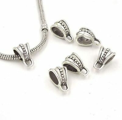 Free Ship 50Pcs Tibetan Silver Spacer Bail Beads Connector Fit Bracelet 15x9mm