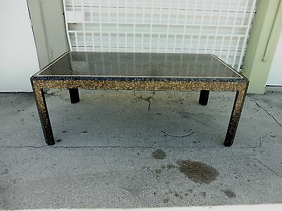 Stunning 70's Signed Maitland Smith Tessellated Abalone Shell Dining Table P