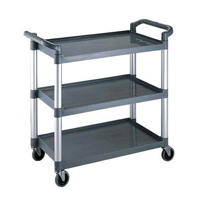 New Kitchen / Catering / Restaurant Sturdy Plastic 3 Tiers Utility Trolley