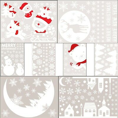 Merry Christmas Decor Snowflakes Decal Wall Sticker Vinyl Art Christmas  Window