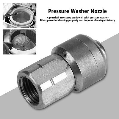 """1/4"""" F Pressure Washer Nozzle Drain Cleaning Rotary Spray Nozzle Uniform Flow"""