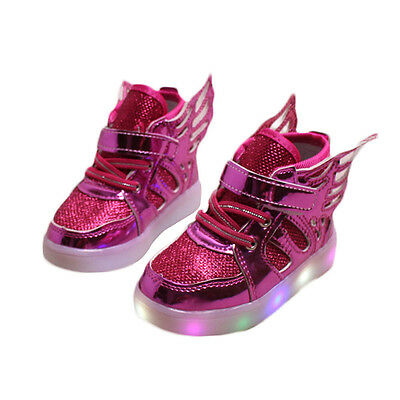 Beauty LED Shoes Spring Autumn Wings Shoes With Light Children Lighted Sneakers